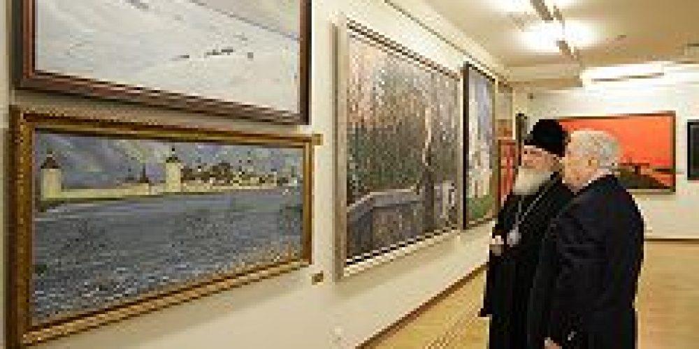 Святейший Патриарх Кирилл посетил Московскую государственную картинную галерею художника Ильи Глазунова