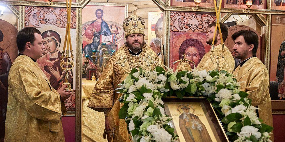 Епископ Фома совершил Литургию в престольный праздник в храме святой княгини Ольги в Солнцеве