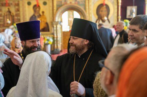 Литургию в Ново-Никольском соборе Можайска Николая возглавил епископ Одинцовский и Красногорский Фома