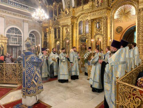 Епископ Павлово-Посадский Фома служил Литургию в праздник Введения во храм Пресвятой Богородицы