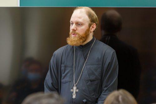 Встречу с сотрудниками МЧС провели в храме Смоленской иконы Божьей Матери в Фили-Давыдково
