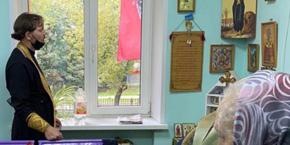 В День трезвости иерей храма прп. Андрея Рублева отслужил молебен в приюте для бездомных ЦСА им.Елизаветы Глинки