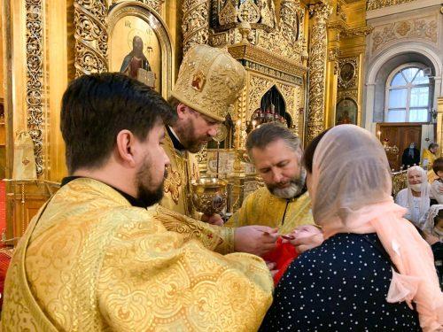 Литургию в Богоявленском кафедральном соборе в Елохове совершил епископ Павлово-Посадский Фома