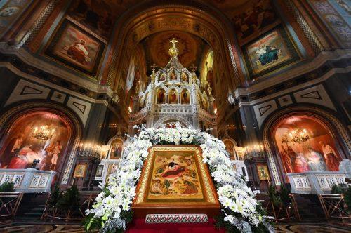 Епископ Павлово-Посадский Фома сослужил Патриарху Кириллу в Рождественской литургии в Храме Христа Спасителя