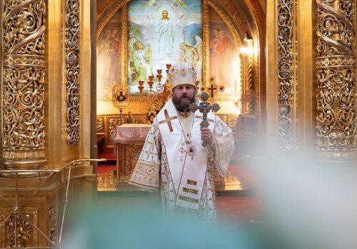 В Неделю 33-ю по Пятидесятнице епископ Павлово-Посадский Фома совершил Литургию в Богоявленском соборе