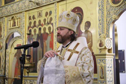 В Великую субботу епископ Одинцовский и Красногорский Фома возглавил Литургию в Георгиевском соборе г. Одинцова
