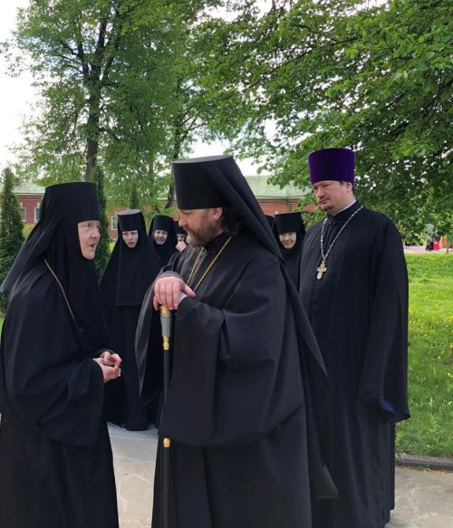 Епископ Одинцовский и Красногорский Фома посетил Спасо-Бородинский женский монастырь