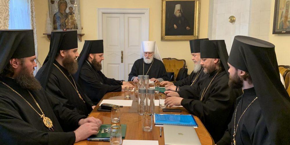 Епископ Фома принял участие в первом заседании Архиерейского совета Московской митрополии