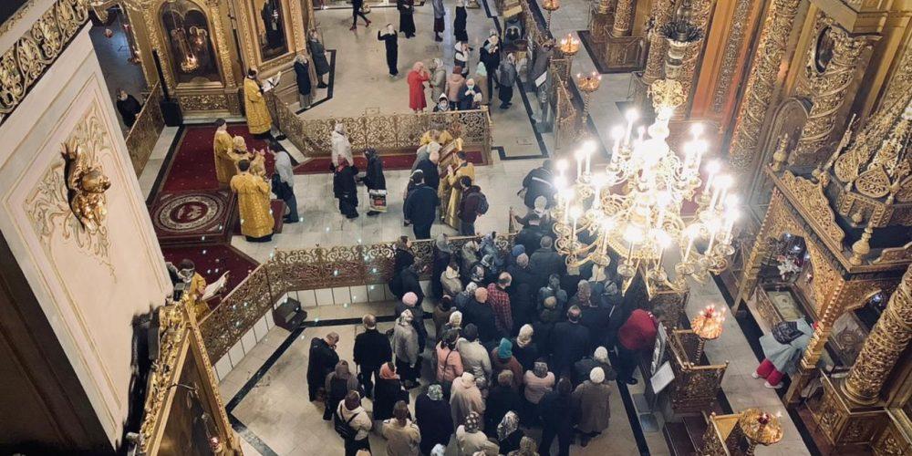 Всенощное бдение в Богоявленском соборе совершил епископ Одинцовский и Красногорский Фома