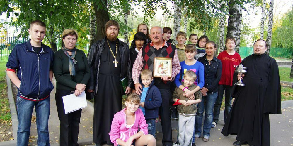 Молебен в реабилитационном центре для несовершеннолетних «Солнцево»