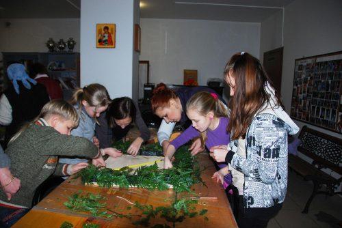Мастер-класс по православной флористике. Украшение аналоя для иконы праздника Сретения Господня