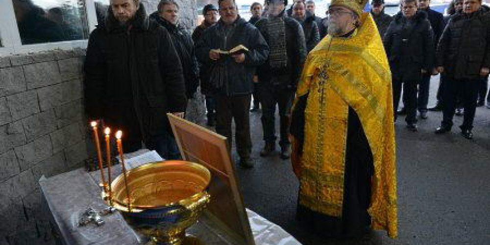 Освящение иконы Николая Можайского