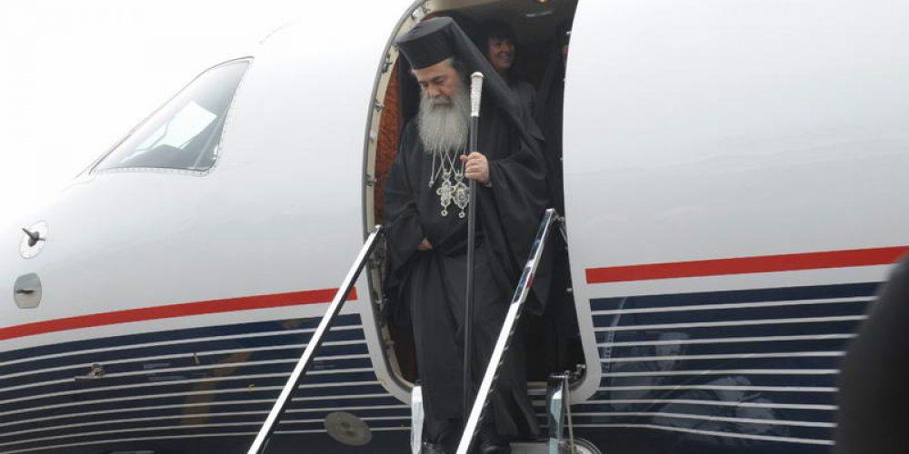 23 мая Предстоятель Иерусалимской Православной Церкви прибыл в Москву