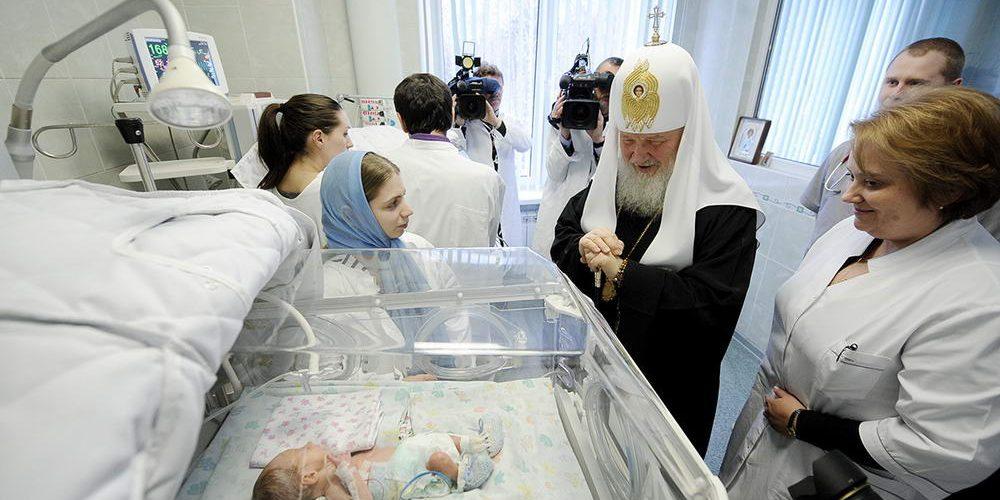 7 января 2013 года, в праздник Рождества Христова, Святейший Патриарх Московский и всея Руси Кирилл посетил родильный дом № 3 города Москвы