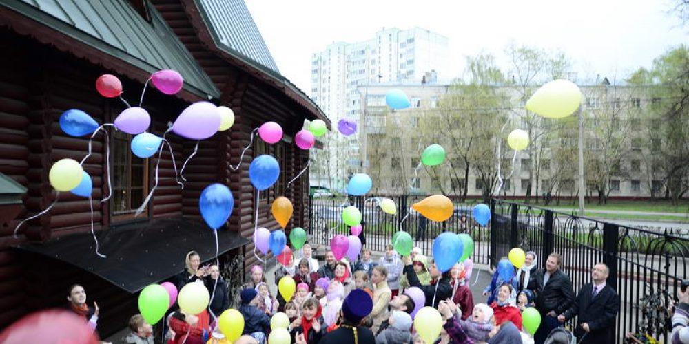 Детский Пасхальный праздник в храме прав. Иоанна Русского