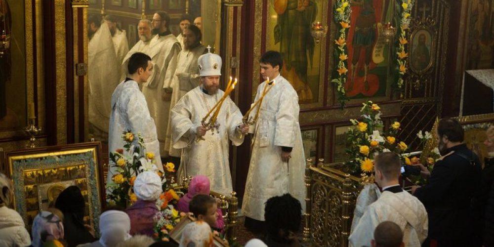Престольный праздник в храме Архистратига Михаила в Тропареве