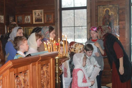Сретение Господне в храме Святителя Спиридона Тримифунтского в Фили-Давыдково