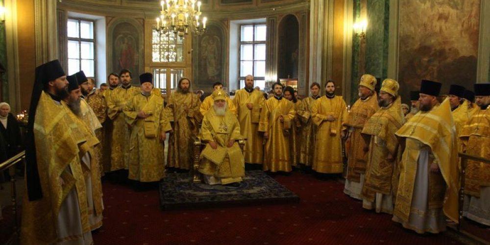 Духовенство г. Москвы поздравило митрополита Истринского Арсения с днем рождения