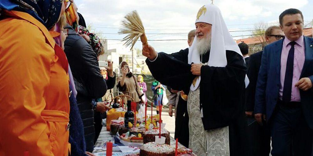Святейший Патриарх Московский и всея Руси Кирилл посетил храм прав. Иоанна Русского