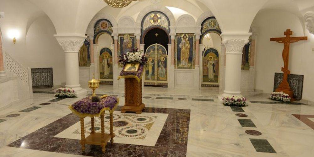 Освящение нижнего храма
