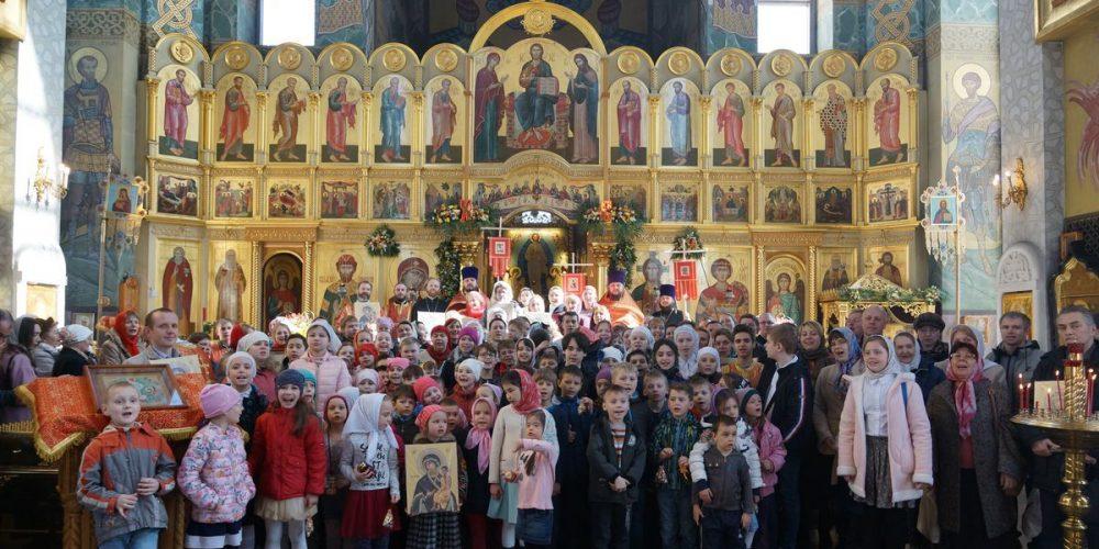 Детская Литургия 15 апреля в храме на Поклонной горе