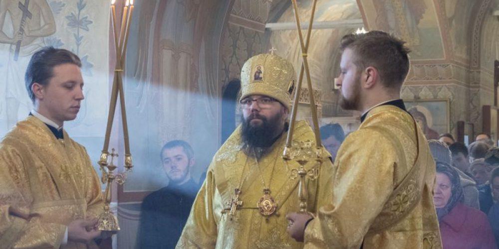 Божественная Литургия архиерейском чином в храме Благовещения Пресвятой Богородицы в Федосьино