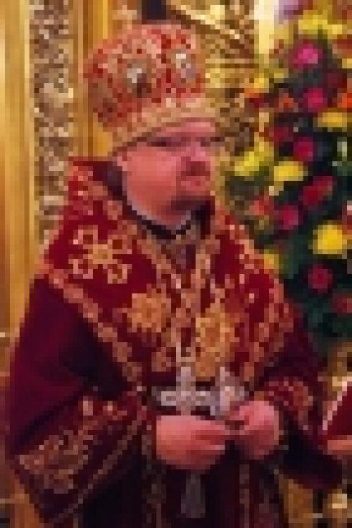 В праздник Светлого Христова Воскресения епископ Бронницкий Игнатий возглавил торжественное богослужение в Богоявленском Кафедральном Соборе