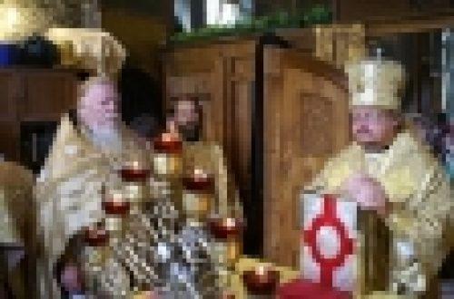 Епископ Бронницкий Игнатий совершил Божественную литургию в храме святителя Митрофана Воронежского