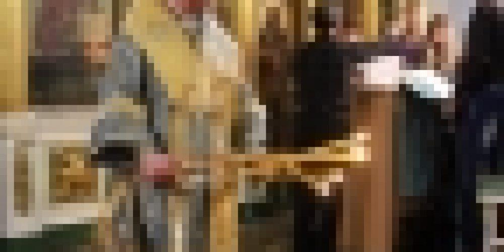 В канун праздника Успения Пресвятой Богородице епископ Бронницкий Игнатий совершил всенощное бдение в храме Рождества Иоанна Предтечи на Пресне