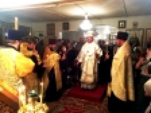 Епископ Выборгский и Приозерский Игнатий возглавил Всенощное бдение в храме святой равноапостольной княгини Ольги в дер.Новое Девяткино