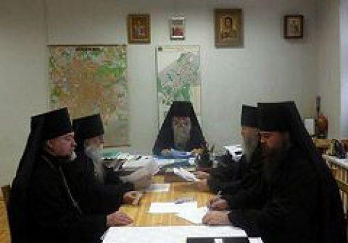 В Андреевском монастыре прошло совещание священнослужителей Юго-Западного викариатства в монашеском чине
