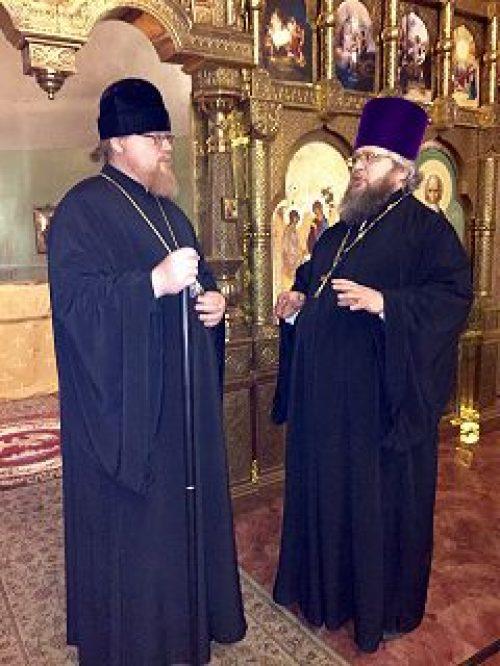Епископ Подольский Тихон ознакомился с ходом ремонтно-восстановительных работ храма Живоначальной Троицы при бывшем приюте Бахрушиных