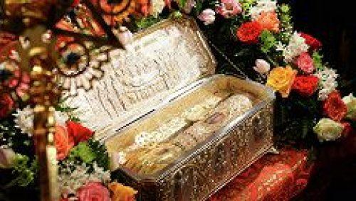 Завершилось пребывание в Новоспасском монастыре ковчега с десницей вмч. Димитрия Солунского