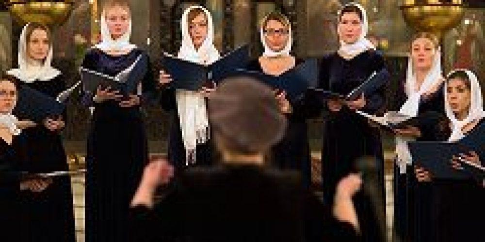 Женский камерный хор Cantilena исполнил духовные произведения в храме Воскресения Христова в Сокольниках