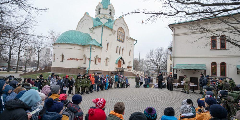 На территории храма святителя Иова на Можайском шоссе прошла игра «Патриоты России. Зимний биатлон»