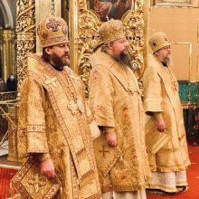 В собор Московских святителей владыка Фома сослужил митрополиту Дионисию в Богоявленском соборе