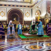 Владыка Фома сослужил Патриарху Кириллу за Литургией в праздник Покрова Богородицы в Храме Христа Спасителя