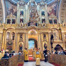 Епископ Одинцовский и Красногорский Фома совершил Литургию в Богоявленском кафедральном соборе