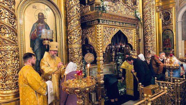 Вечернее богослужение с литией совершил епископ Одинцовский и Красногорский Фома и епископ Владикавказский и Аланский Герасим