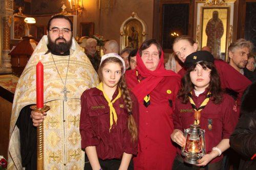Принесение Благодатного Огня в храм Архистратига Божия Архангела Михаила