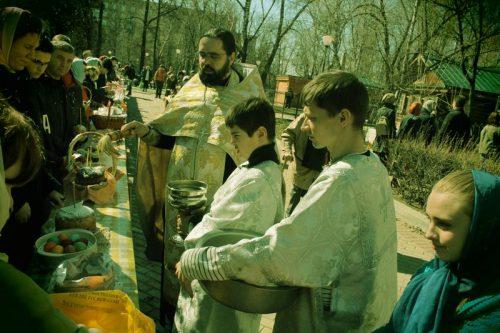 Великая Суббота в храме Архангела Михаила близ Кутузовской избы