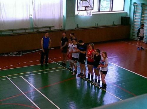 Матчевая встреча по волейболу в рамках ежегодных Георгиевских игр
