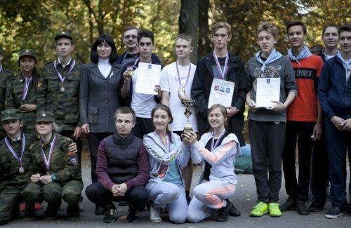 Военно-спортивная игра «Зарница» в парке Тропарево-Никулино