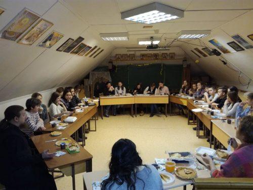 22 февраля в храме прп. Серафима Саровского в Кунцеве состоялся открытый урок по ОПК