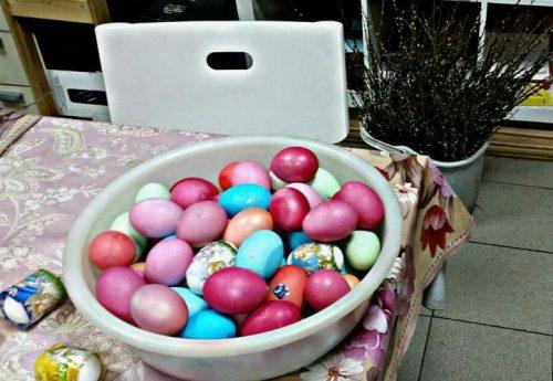Мастер-класс по окраске яиц для акции «Ветеран Победы»