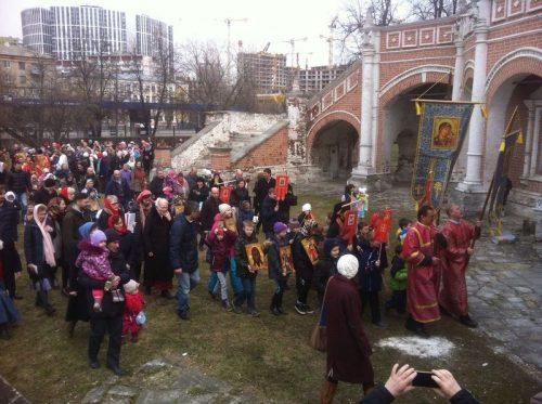 Православное детское шествие – детский крестный ход в храме Покрова Пресвятой Богородицы в Филях