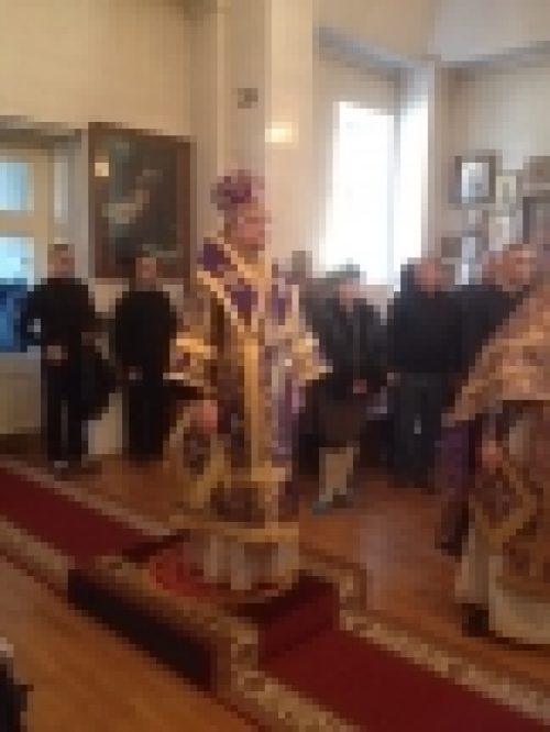 Епископ Выборгский и Приозерский Игнатий совершил Литургию в домовом храме Покрова Божией Матери при стационарном медико-социальном учреждении для престарелых людей «Покровская обитель»