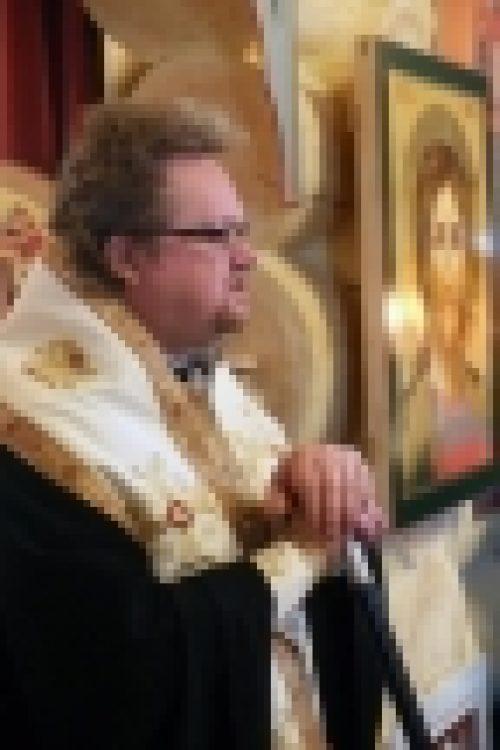Епископ Выборгский и Приозерский Игнатий совершил малое освящение храма в честь св. Владимира при строящемся храме иконы Божией Матери Неопалимая Купина в Очаково