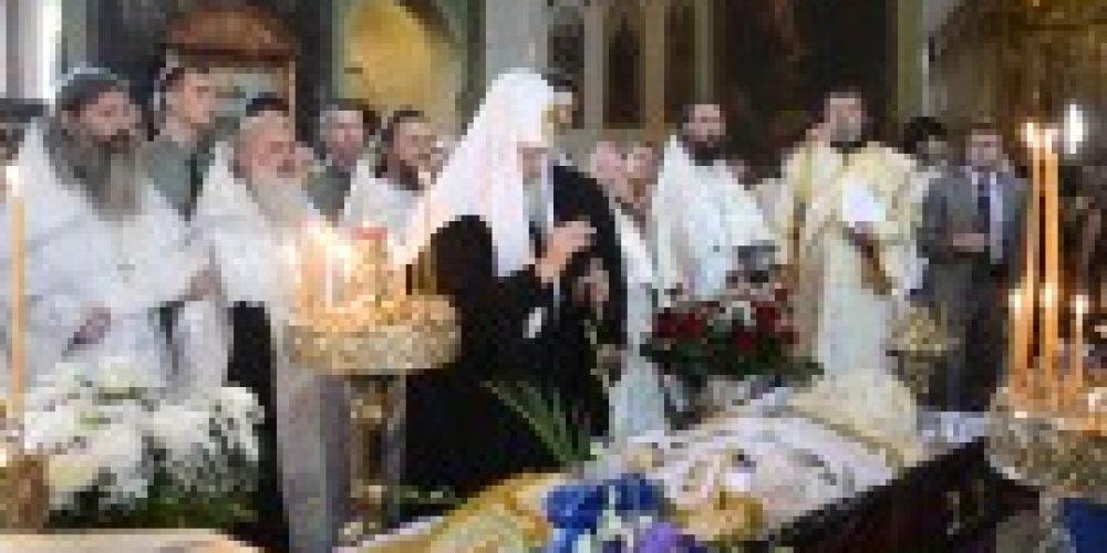 Святейший Патриарх Кирилл простился с почившим протоиереем Аркадием Тыщуком