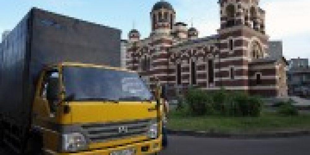 В Краснодарский край отправился грузовой автомобиль с гуманитарной помощью, собранной на приходах Северного викариатства